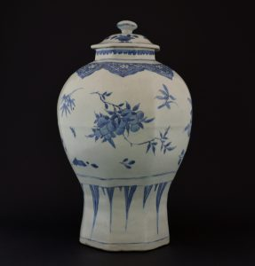 A Ming Porcelain Jar and Cover, Transitional Period, from The Hatcher Cargo, Chongzhen Period c.1643.