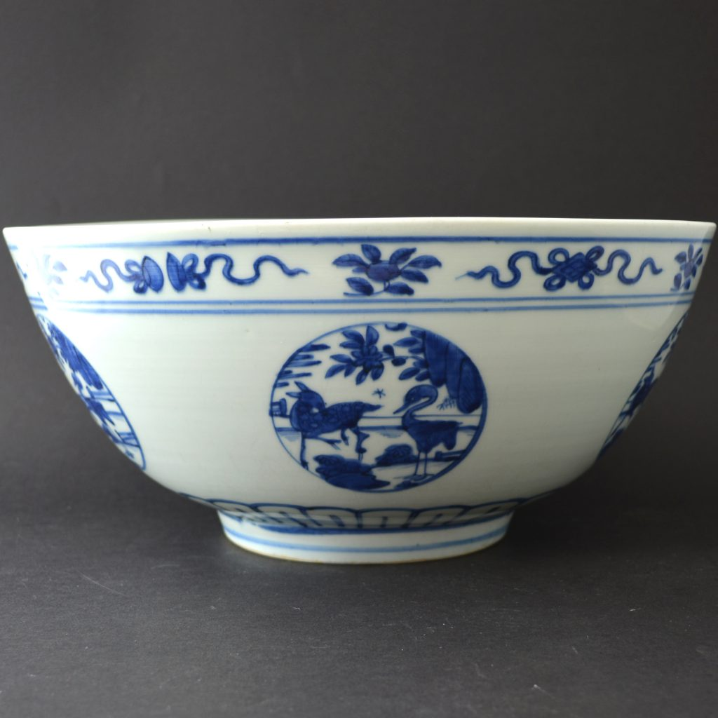 A Large Ming Blue and White Porcelain Bowl, Jiajing Period