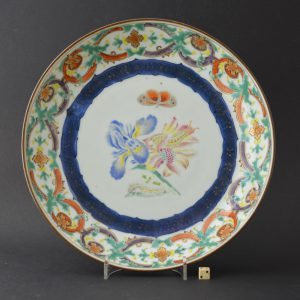 Chinese Export Porcelain Botanical `Merian` Plate c.1740-1750.