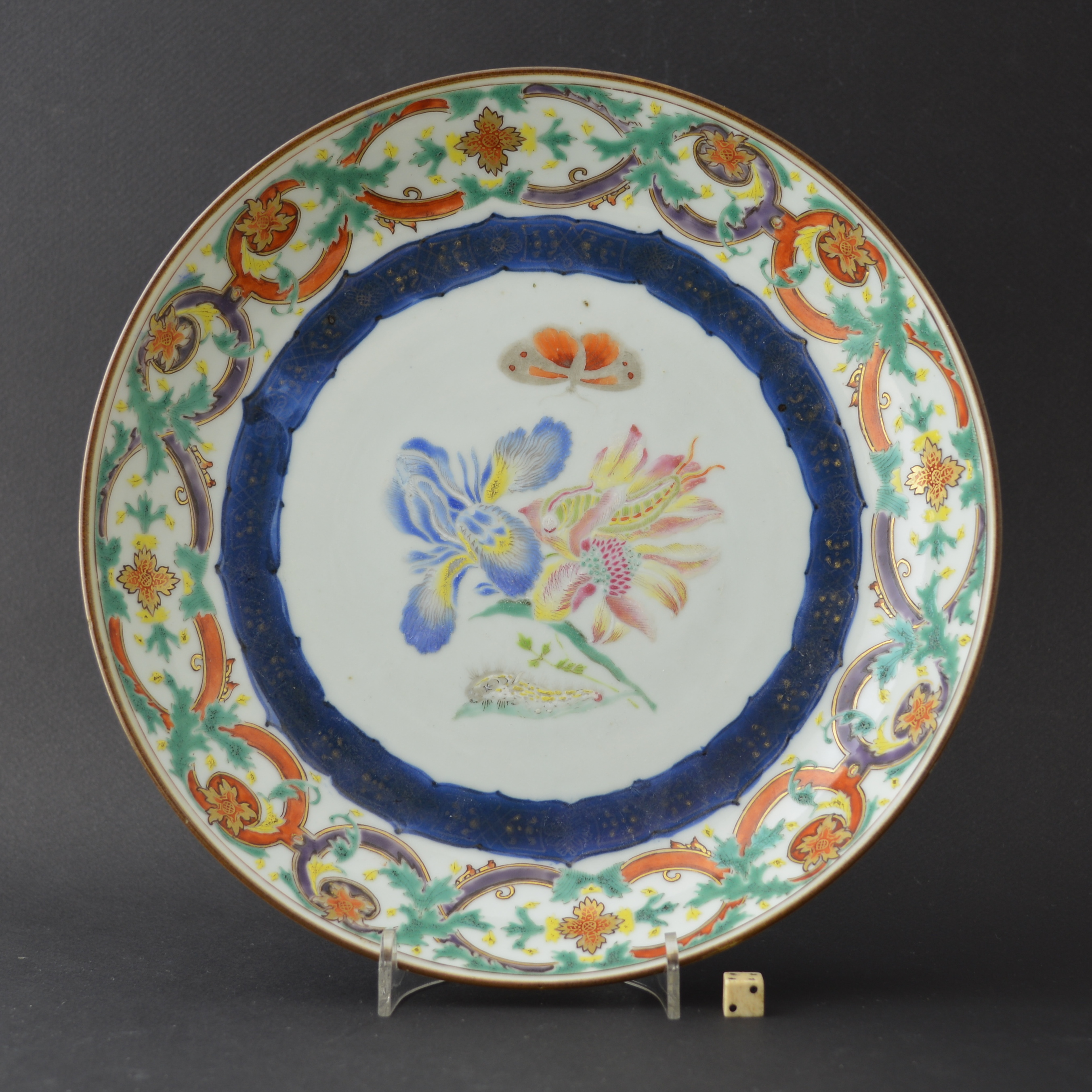 Chinese Export Porcelain Botanical `Merian` Plate c.1740-1750.