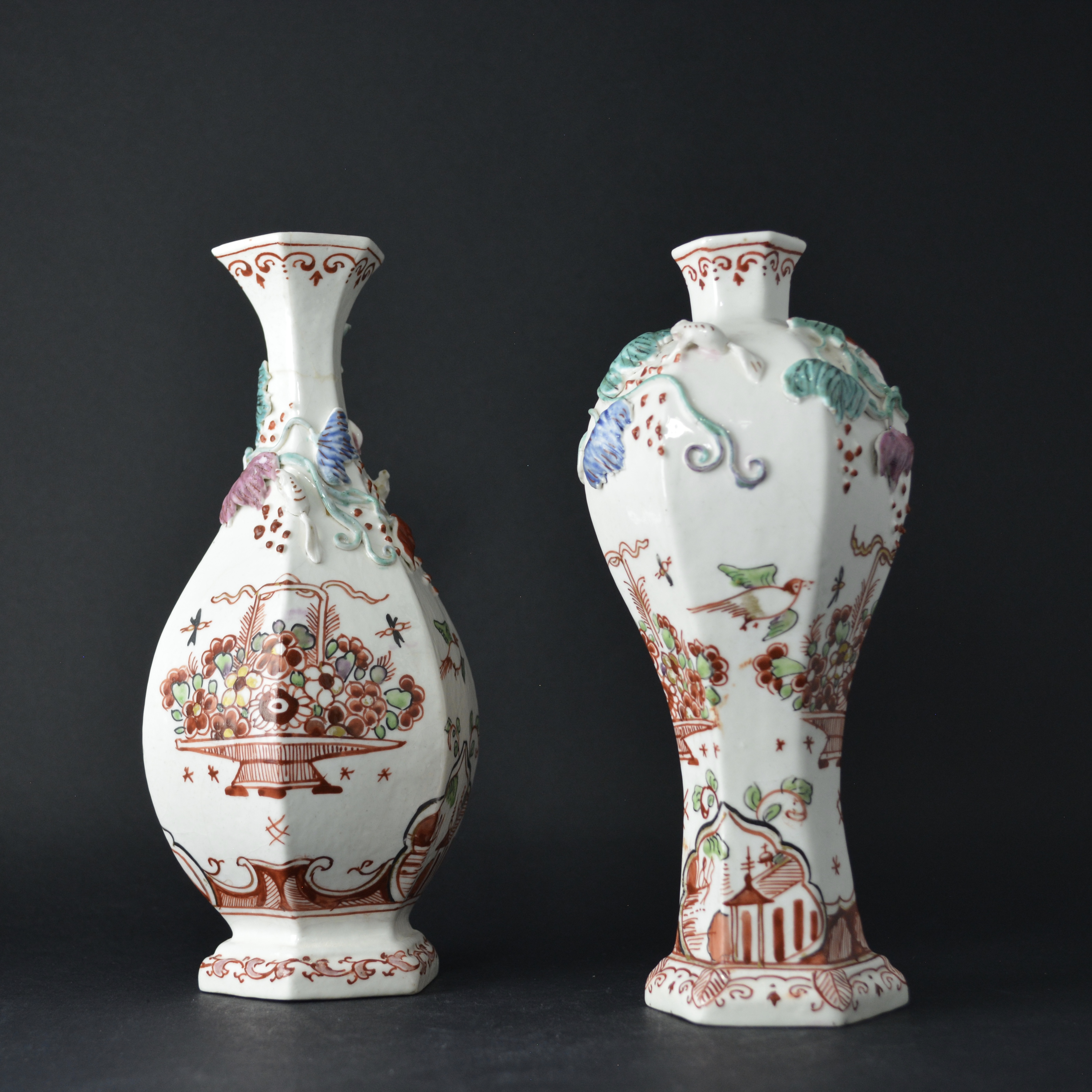 Dutch Decorated Chinese Soft-Paste Porcelain Vase, Early Qianlong c.1740