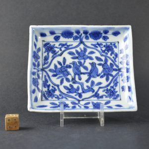 A Ming Blue and White Porcelain Dish, Jiajing Period 1522 - 1566. Robert McPherson Antiques -25153.