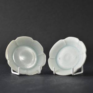 Pair of Miniature Qingbai Saucers Song 12th or 13th Century. Robert McPherson Antiques - 25211.