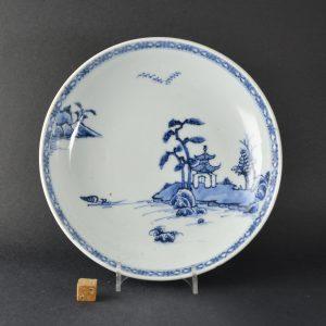 A Nanking Cargo Porcelain Saucer Dish. Robert McPherson Antiques - 25183.