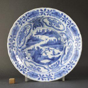A Wanli Kraakware Dish, Ming Dynasty. Robert McPherson Antiques - 25221.