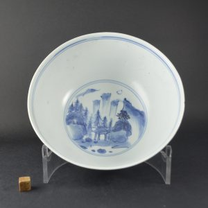 An Unusual Hatcher Cargo Bowl, Transitional Porcelain c.1643