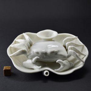Blanc de Chine Porcelain Crab. 25045