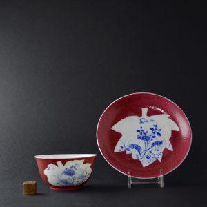 Yongzheng Porcelain Teabowl and Saucer. Robert McPherson Antiques. 25028