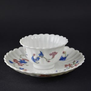 Chinese Export Porcelain Famille Rose Teabowl and Saucer. Robert McPherson Antiques -25134