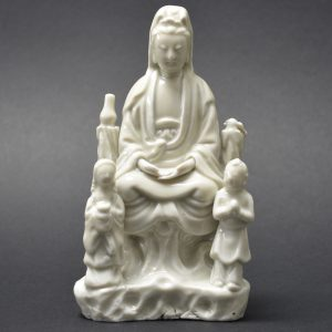 Ming or Qing Blanc de Chine Porcelain Guanyin Group - Robert McPherson Antiques - 25565