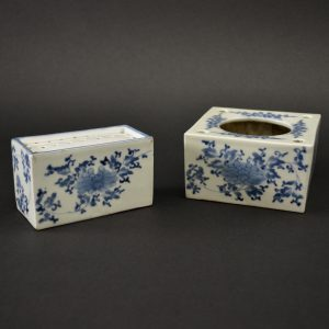 A Late 17th Century Japanese Porcelain Writing Set. Arita c.1680-1700. Robert McPherson Antiques