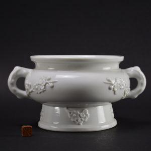 Kangxi Blanc de Chine Porcelain Censer - Robert McPherson Antiques -