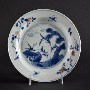 A Transitional Porcelain Dish For the Japanese Market - Robert McPherson Antiques - 25708