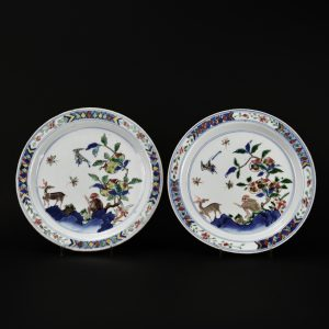 A Large Transitional Porcelain Dish for the Japanese Market, Chongzhen Period - RobertTwo Large Transitional Porcelain Dish for the Japanese Market, Chongzhen Period - Robert McPherson Antiques - 26043 and 26044