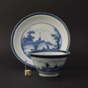 Japanese porcelain teabowl and saucer after Van Frytom