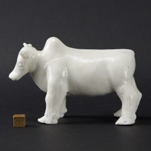 A Kangxi Blanc de Chine Porcelain Model of a Ox - Robert McPherson Antiques - 25665