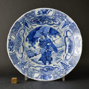 A Fine Wanli Kraakware Klapmuts Warrior Dish - Robert McPherson Antiques - 25154
