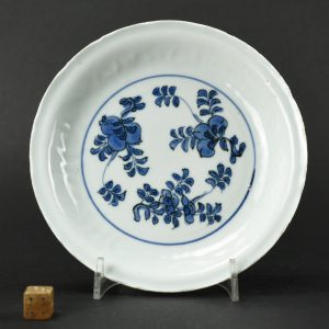 A Small Ming Blue and White Kraakware dish - Robert McPherson Antiques - 25710