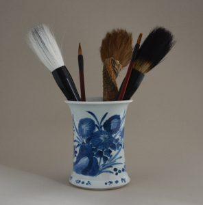 Kangxi porcelain brushpot