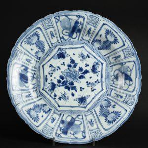 A Large Hatcher Cargo Kraakware Porcelain Dish - Robert McPherson Antiques - 26034