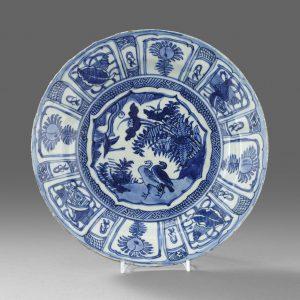 A Late Ming Kraakware Dish c.1600 - 1630.