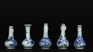 Miniature Transitional Blue and White Porcelain Vases From the Hatcher Cargo c.1643 - Robert McPherson Antiques