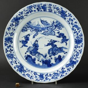 A Fine Kangxi Blue and White Porcelain Dish - Robert McPherson Antiques - 26333
