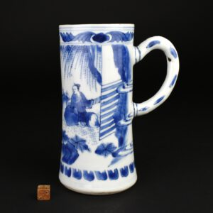 A Transitional Blue and White Porcelain Tankard - Robert McPherson Antiques - 25917
