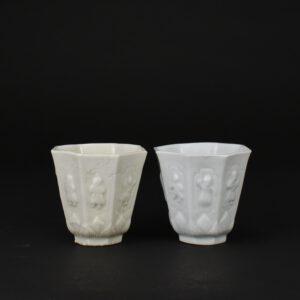 A Kangxi Blanc de Chine Porcelain Beaker Made at the Workshop of Mr. Zhongtun - Robert McPherson Antiques - 25670