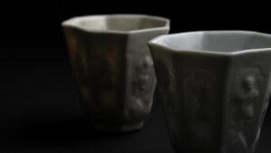 A Kangxi Blanc de Chine Porcelain Beaker Made at the Workshop of Mr. Zhongtun - Robert McPherson Antiques - 25671